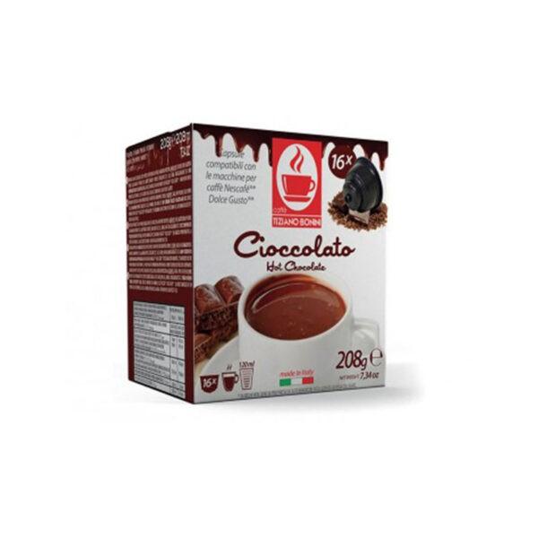 Τiziano Bonini Cioccolato Συμβατές Αμπούλες Dolce Gusto(16τμχ)