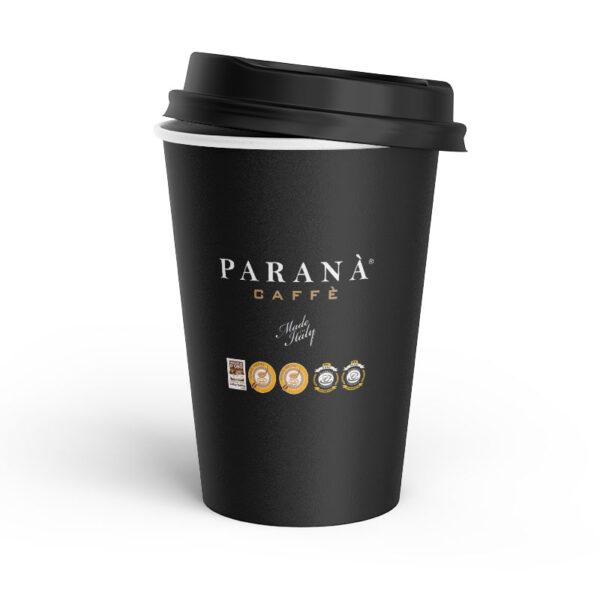 Χάρτινο Ποτήρι Parana Caffe Διπλότοιχο 12oz Mαύρο(25τμχ)