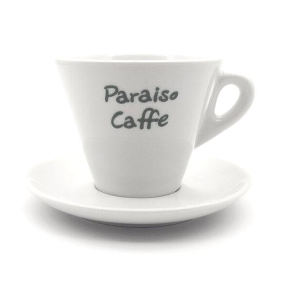Φλυτζάνι Double Cappuccino Paraiso Barista Πορσελάνης Λευκό 270ml