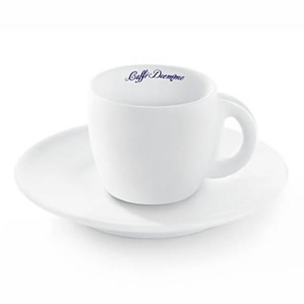 Φλυτζάνι Double Espresso Diemme Πορσελάνης Λευκό