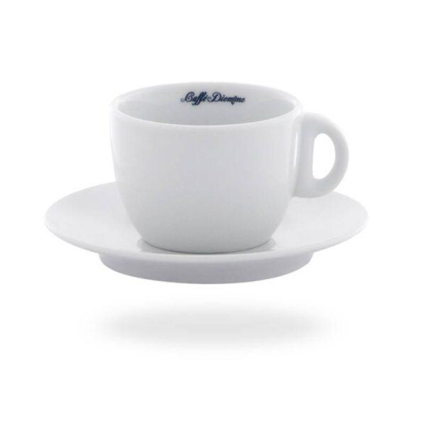 Φλυτζάνι Cappuccino Diemme Πορσελάνης Λευκό