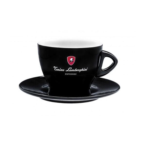 Φλυτζάνι Double Cappuccino/Latte Tonino Lamborghini Μαύρο