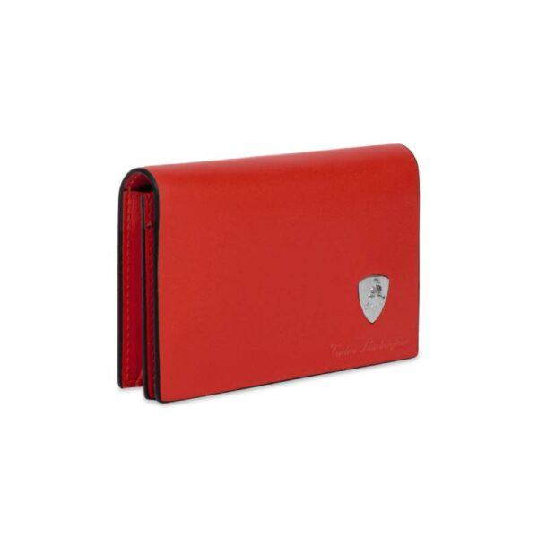 Lamborghini Δερμάτινη Θήκη Καρτών Young PATL3978 Kelly Κόκκινη