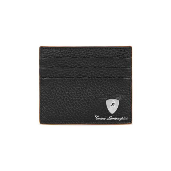 Tonino Lamborghini Δερμάτινη Θήκη Καρτών Taglio Saffiano Kόκκινη