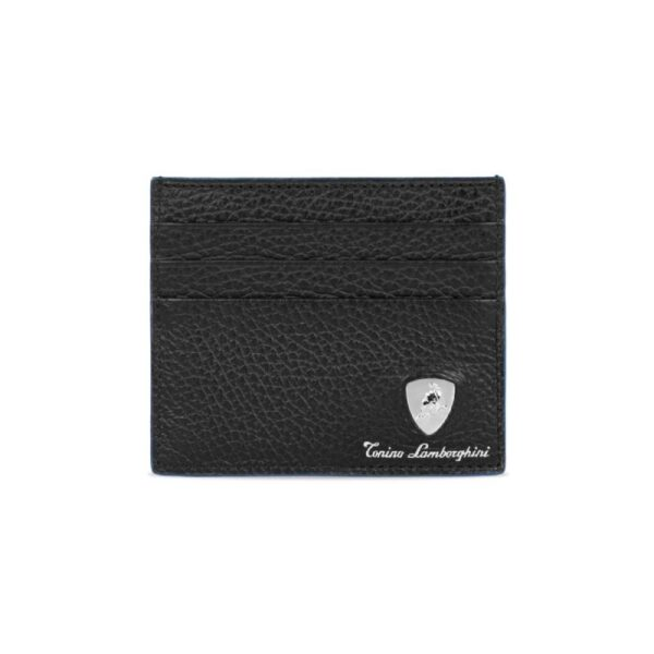 Lamborghini Δερμάτινη Θήκη Καρτών Taglio Saffiano Μπλε