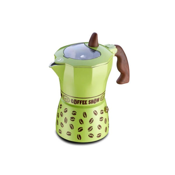 GAT Coffee Show Moka Pot 3 Cups Green