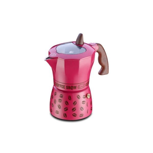 GAT Coffee Show Moka Pot 1 Cup Fuchsia