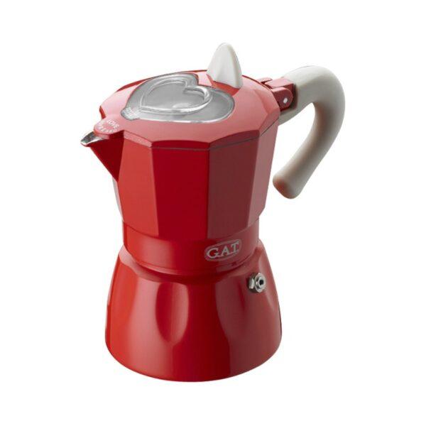 GAT Rossana Moka Pot 1 Cup Red